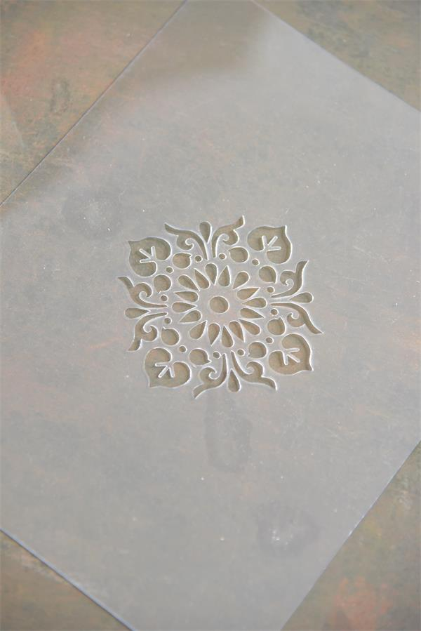 Jeanne d/'Arc Living Vintage Stencil Curved Lurk Dots Klebeschablone Schablone